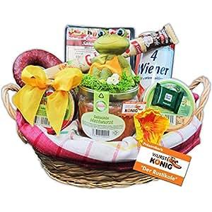 """Geschenk Korb """"Der Rustikale"""" Präsentkorb (6020), Geschenkkörbe gefüllt mit rustikalen Wurst-Delikatessen – Deftige Geschenke von Wurst-König®"""