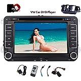 Eincar 2 Din Autoradio DVD-Player mit GPS Navigation 7-Zoll-Touchscreen für VW Volkswagen Golf Passat Bluetooth-Unterstützung Freisprecheinrichtung CanBus DVD CD-Player Lenkradsteuerung FM / AM Radio Receiver + Free Rückfahrkamera