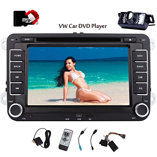 Eincar 2 Din Autoradio DVD-Player mit GPS Navigation 7-Zoll-Touchscreen f¨¹r VW Volkswagen Golf Passat Bluetooth-Unterst¨¹tzung Freisprecheinrichtung CanBus DVD CD-Player Lenkradsteuerung FM / AM Radi