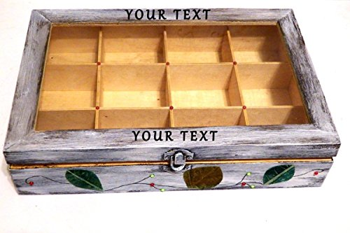 Teebox mit Wunschtext personalisierbar 12 Fächer