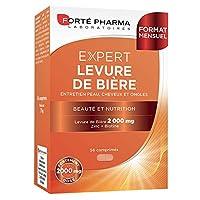 Propriétés FORTE PHARMA Levure de Bière 2000mg est un complément alimentaire sous forme de comprimés. Il contient une formule qui associe 2000 mg de levure de bière, à de la vitamine b8 et du zinc. FORTE PHARMA Levure de Bière 2000mg apporte 17 vitam...