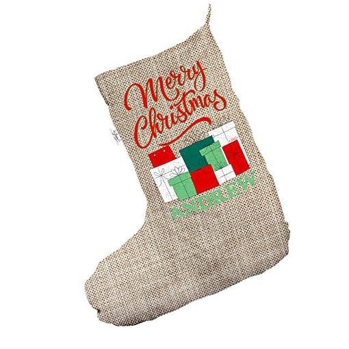 pretty nice 0663a a62e3 personalizzati regali di Natale pile Jumbo in iuta Natale ...
