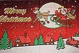 Frohe Weihnachten rot mit fliegendem Schlitten Modell 2012 Fahne Flagge Grösse 1,50x0,90m - FRIP –Versand