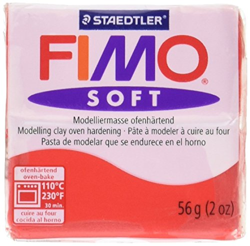 Staedtler Fimo Soft Polymer Clay 2oz-Indian Red - Indian Red Clay