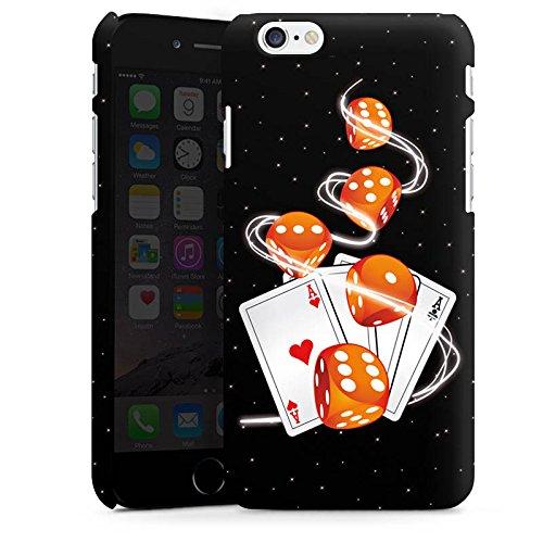 Apple iPhone X Silikon Hülle Case Schutzhülle Würfel Herz Karten Premium Case matt