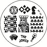 STAMPING-SCHABLONE # BP-63 carte, a quadri, a forma di cuore, picche, a forma di croce, scacchi, Casino, König, Joker, Jeton