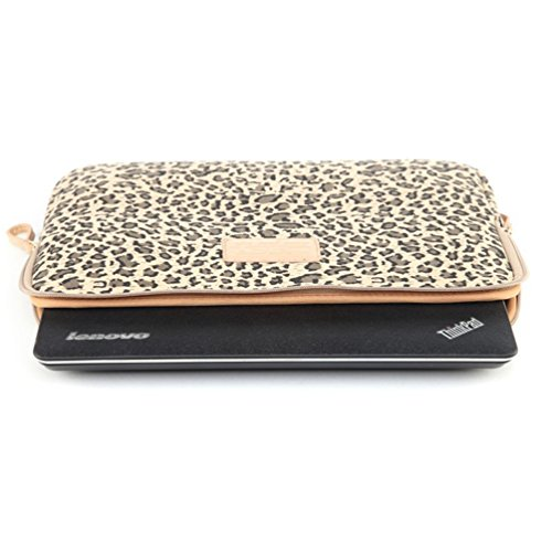 Baymate Unisex Tasche Mit Leopard Muster Macbooktasche Für 11.6-15 Netbook / Laptop / Notebook Computer 12 Zoll Leopard Braun
