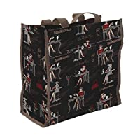 Ladies/Girls Shopper Tote Shoulder Shopping Bag Canvas /Coffee, tea or me? (Black)