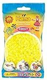 Hama 207-34 - Bügelperlen im Beutel, ca. 1000 Stück, neon-gelb