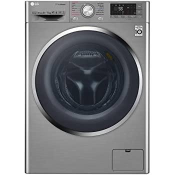 LG 9 kg Inverter Fully-Automatic Top Loading Washer Dryer (F4J8VHP2SD.AESPEIL, Luxury Silver)