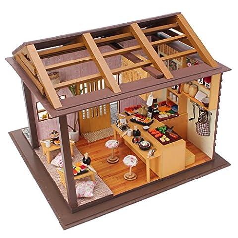 MagiDeal Maison de Poupée Miniature Bricolage Dollhouse avec Meuble Cadeau