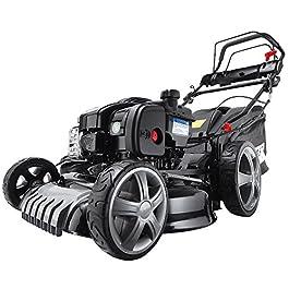BRAST tondeuse à gazon thermique autopropulsée, 2,7 cv vitesse de 2700tr/min, coupe 46 cm, briggs&stratton (500E), 4 en 1 multifonction, bac de rammassage 60 l, système de silencieux Lo-ToneTM