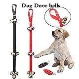 Guqi Pack of 2 Dog Doorbells 7 Extra Loud Bells, Adjustable Outside Bell