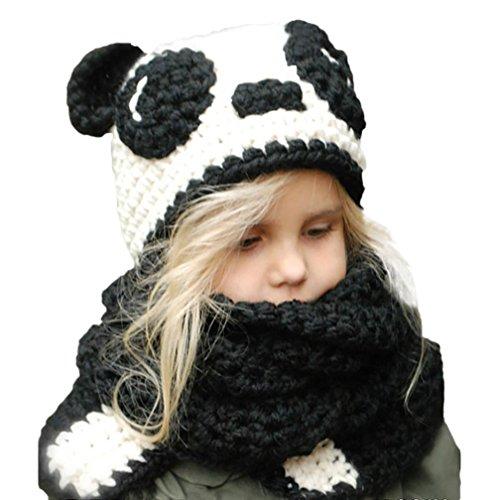 Bebé Bufandas Sombreros Sombreros para niños Otoño invierno Calentar Linda  Animal De punto capucha Bufanda Gorros 819c05c447c