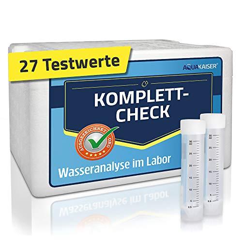 Aquakaiser Wassertest - Komplett-Test auf die gängigsten Schwermetalle, Bakterien, Mineralstoffe, Wasserhärte. - inkl. Test-Set und Laboranalyse