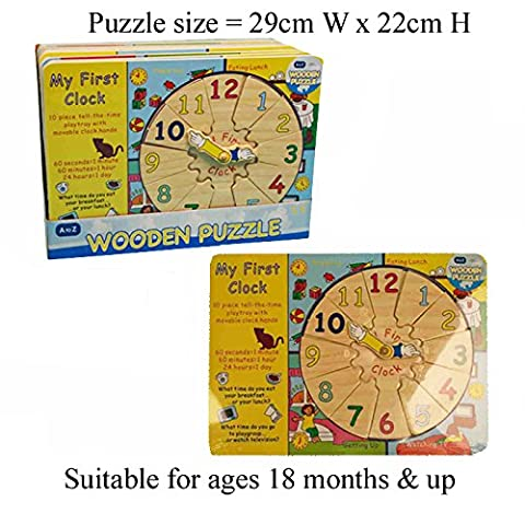 Wooden Toddlers Clock Shape Finder Jigsaw Puzzle