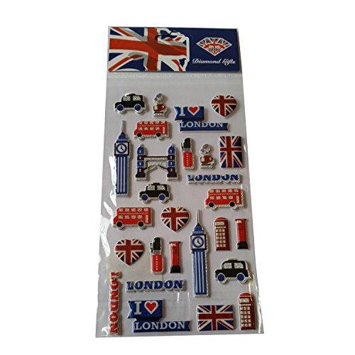 Set UK Souvenir! Souvenir / Speicher / Memoria! Highly Collectible Stickers, Every London Icon Represented! Fun, Unusual British UK Collectible Souvenir! A Unique and Educational Souvenir! Autocollants / Aufkleber / Adesivi / Pegatinas! ()