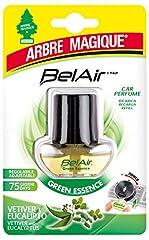 Idea Regalo - Arbre Magique Belair Giugiaro Easy, Deodorante Auto, Fragranza Green Essence, Ricarica per Emanatore, Effetto Lunga Durata, Design Made in Italy