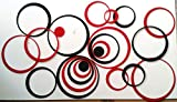 #5: Saifee Acrylic 3D Home & Office Décor Wall Sticker (Medium Circles, 36 Pcs)
