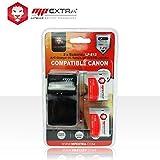 MP Extra LP-E12 Pack 2 batteries + chargeur Europe/US + adaptateur allume-cigare pour Canon EOS Noir