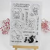 ECMQS Animal DIY Transparente Briefmarke, Silikon Stempel Set, Clear Stamps, Schneiden Schablonen, Bastelei Scrapbooking-Werkzeug