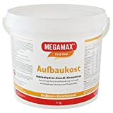 MEGAMAX Aufbaukost Erdbeere 3 kg | Ideal zur Kräftigung und bei Untergewicht | Proteinpulver zur Zubereitung eines fettarmen Kohlenhydrat-Eiweiß-Getränkes für Muskelmasse u. Muskelaufbau Gewichtszunahme