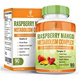 Raspberry Ketones - Maximum Strength Complex With African Mango, Acetyl L-Carnitine, Green Tea, Acai Berry - Maximum Strength Supplement for Men & Women - 90 Capsules by Earths Design