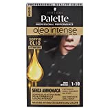 Testanera - Palette, Colorazione Permanente Con Oli Senza Ammoniaca, 1-10 Nero Intenso