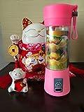 H Juicer Electric Mini Juicer Accueil Coupe de Jus de Fruits Multifonctionnelle Portable Coupe en Plastique à Petits Jus,Rose,8.2 * 8 * 23.5CM