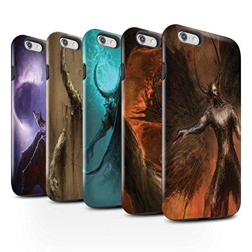 Offiziell Chris Cold Hülle / Glanz Harten Stoßfest Case für Apple iPhone 6S+/Plus / Pack 10pcs Muster / Dunkle Kunst Dämon Kollektion Pack 10pcs
