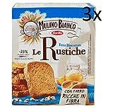 3x Mulino Bianco Fette biscottate Le rustiche 315g mit Dinkel Zwieback brot