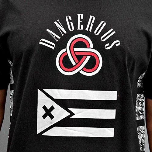 Dangerous DNGRS Flag Herren T-Shirt Schwarz Schwarz
