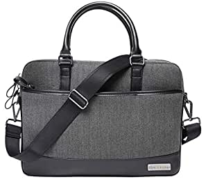 "Red Lemon London Executive Laptop Messenger Bag with Microfiber Leather for 13.3"" - Black"