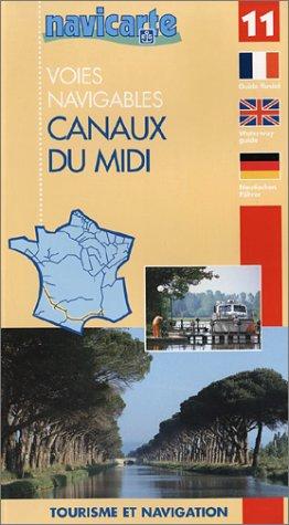 Carte marine : Les canaux du Midi
