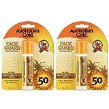 2 Pack SPF 50 Face Guard Sunscreen Stick