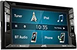 JVC KW V240BT DVD/CD/USB Reciever with Built-in Bluetooth and VGA Resolution 15.7 cm (6.2 inch) Touch Panel Black