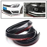 #6: Vheelocityin Black Carbon Fiber Finish Front Bumper Lip Spoiler Stickon 8Feet For Volkswagen Vento