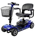 SABWAY Scooter Eléctrico con Asiento 4 Ruedas 180 W Azul - Movilidad Reducida con...