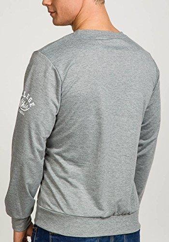 BOLF Herren Sweatshirt Langarmshirt Pullover Sweatjacke Pulli Camo Mix 1A1 Motiv Grau_2612