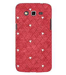 Red Color Diamond Pattern 3D Hard Polycarbonate Designer Back Case Cover for Samsung Galaxy Grand Neo Plus :: Samsung Galaxy Grand Neo Plus i9060i