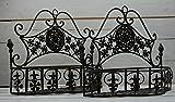 Metall Wandkörbe Pflanzkörbe 2er Set Paar antik/braun Landhausstil Pflanzkorb Shabby Style Moritz®