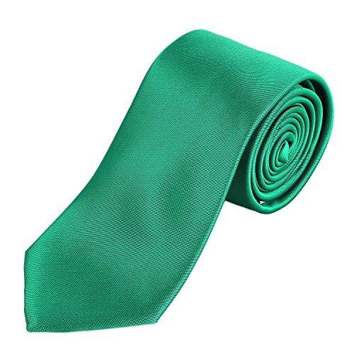 DonDon hombres corbata 7 cm business professional classica hecho a mano verde para la oficina o eventos festivos