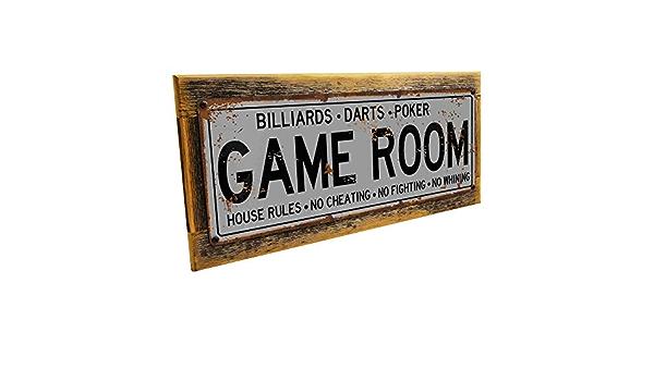 Plaque de Billard en m/étal pour Mancave Den ou Gameroom