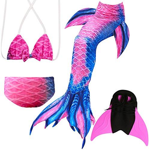 Das beste Mädchen Bikini Badeanzüge Schönere Meerjungfrauenschwanz zum Schwimmen mit Meerjungfrau Flosse Schwimmen Kostüm Schwanzflosse - EIN ()