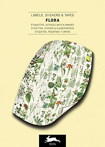 Flora - Label, Sticker & Tape Books: Label & Sticker Book