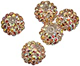 Crystal Ball Bead Cluster 14mm 5/Pkg-Style 28