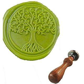 MDLG Vintage Tree of Life Custom Bild Hochzeit Einladung Wachssiegel fadensiegelung Stempel Griff-Set