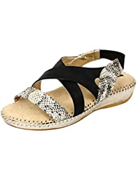 1 WALK PARTY WEAR COLLECTION FOR WOMEN-BLACK AND SILVER
