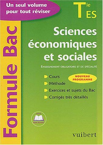 Formule Bac : Sciences économiques et sociales, terminale ES : Enseignement obligatoire et de spécialité