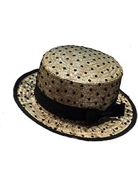 Moda Nuevo Paja Verano Pimientos Paja De Trigo Señora Sombrero De Paja Al Aire Libre Sol Gasa Canteado Sombrero...